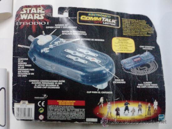 Figuras y Muñecos Star Wars: STAR WARS -COMTALK LECTOR -ELECTRONICO HASBRO 1999-- SONIDOS DE LAS VOCES DE TUS HEROES - Foto 3 - 35858511